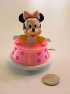 WIND UP 1984 WALKER DISNEY CARTOON TOY Baby MINNIE in Walker/Works