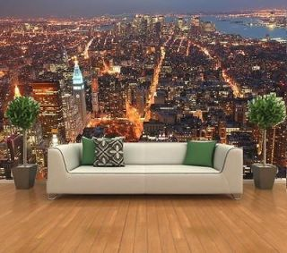 NY City Lights Manhattan from Empire State Building Wall Mural Photo