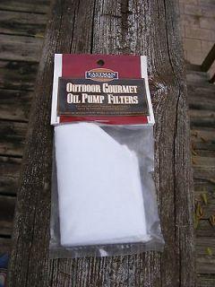 EASTMAN OUTDOORS GOURMET COOKING OIL PUMP FILTERS 6/PKG FRYER FREE