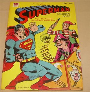COLORING BOOK   WHITMAN D.C. COMICS INC. #1397 SOME PAGES COLORED