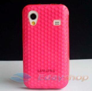 Peach Diamond Crystal Soft Gel COVER CASE FOR Samsung Galaxy Ace S5830