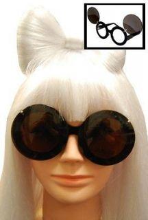 LADY GAGA PAPARAZZI BLACK UV400 GLASSES WITH FLIP UP LENS COSTUME