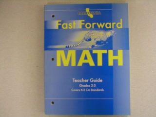 California Fast Forward Math Teachers Guide 0153770392