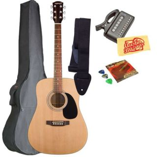 Fender Starcaster Acoustic Guitar Bundle w/ Gigbag, Strap, Strings
