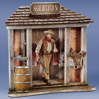 John Wayne frontier Hero walking Tall Western Saloon Statue figure
