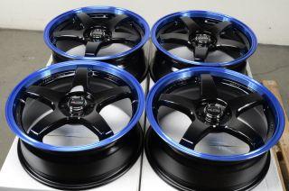 17 4x100 Blue Effect Wheels Escort Cobalt Pontiac G5 G3 Protege Lancer
