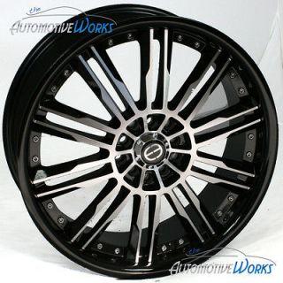 18x7 Edge ED20 5x108 5x4.25 5x115 +42mm Machined Black Wheels Rims