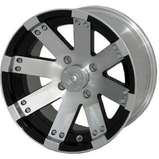 12x7 Machined Black Wheel Vision Buck Shot (158 ATV) 5x4.5