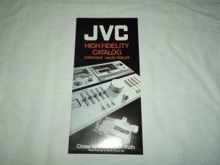 JVC Audio Hi Fi Stereo System Original Catalog / Brochure X Rare