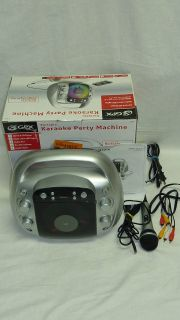 GPX J100S Portable Karaoke Party Machine CD+G & CD Player