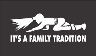 Crawling Coal Miner ITS A FAMILY TRADITION Mining Decal 3x8 COAL MINE