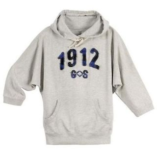 NWT Womens Juniors GIRL SCOUT 1912 Gray Hoodie Sweatshirt Size L XL