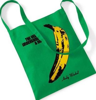 THE VELVET UNDERGROUND Andy Warhol Cotton Tote Bag Shopping Sling