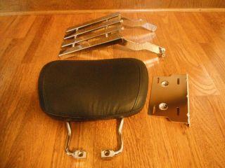 Harley Davidson Backrest Luggage Rack Sissy Bar Road King FLHT FLTR