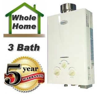 Propane LPGas on Demand Tankless Instant Hot Water Heater 2GPM Ideal