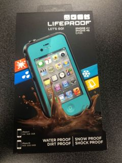 NEW Lifeproof iPhone 4/4S Case Teal/Aqua New In Box Apple Cover Life