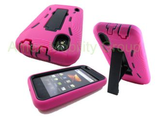 2IN1 BOOST MOBILE LG MARQUEE LS855 HEAVY DUTY HOT PINK CASE + BLACK