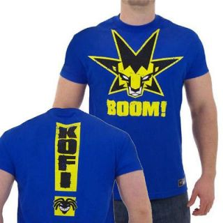 Kofi Kingston Blue Boom Star WWE T Shirt 100% Cotton M & L Size