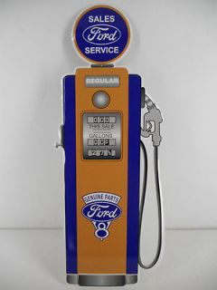 Ford Parts Service Gas Pump Sign Station Vintage Style Car Lot Garage