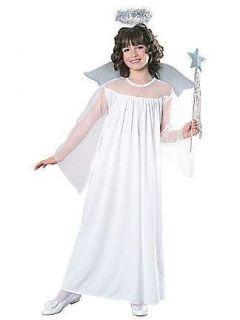 ANGEL HALLOWEEN dress COSTUME w/ Halo & wings ~ medium & large child