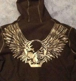 Harley Davidson Demon Wings Hoodie Fleece Jacket 2XL NWT