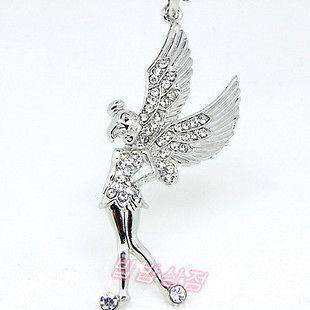 Hot Lady Charm Jewelry Little Fairy Wings Fair Crystal Necklace 1pcs
