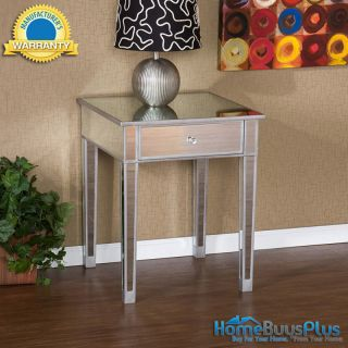 Mirage Mirrored Accent Side End Table Mirror Nightstand Furniture