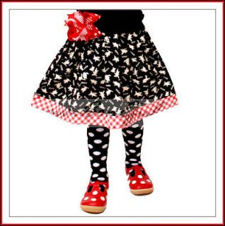 BonEful Boutique Birthday GIRL Olivia the Pig Fabric Twirl Skirt 7 8