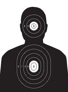 Police Pistol and Rifle Human Torso Silhouette Shooting Targets