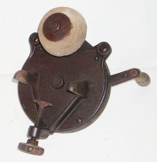 Antique Cast Iron Bench Mount Grinding Wheel