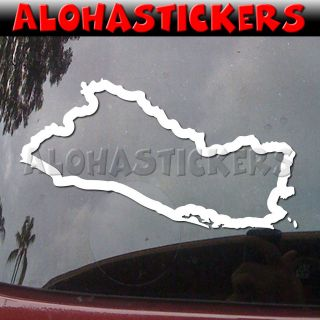 EL SALVADOR COUNTRY OUTLINE Car Truck Van Laptop Vinyl Decal Window