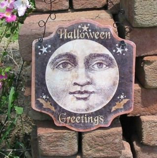 Halloween Man in the Moon Wall Hanging Wire Hanger