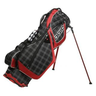 NEW OGIO GROM STAND CARRY GOLF BAG BLACK PLAID
