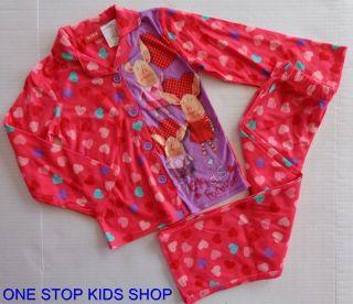 OLIVIA The Pig Girls 4 5 6 6X 7 8 Flannel Pjs Set PAJAMAS Shirt Pants