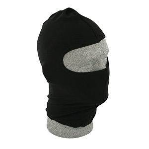 Solid Black Nylon Balaclava Ninja Swat Face Mask Liner