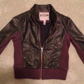 Bitten By Sarah Jessica Parker Black Motorcycle Jacket EUC Size Med