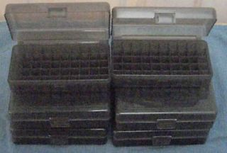 10 New Plastic 9mm, 380, 38S&W 50rd Ammo Boxes