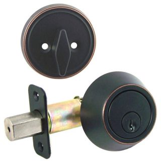 Designers Impressions Oil Rubbed Bronze Single Cylinder Deadbolt Door