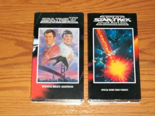 Lot 2 Star Trek Video VHS IV The Voyage Home VI The Undiscovered