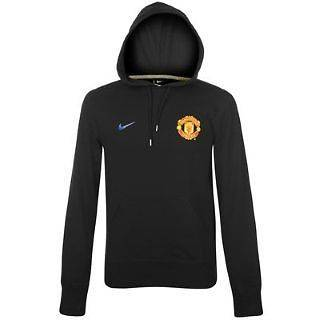 Manchester United   Nike Core Hoody   Mens Hooded Top   Black   S XXL