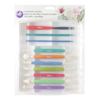 WILTON 10 pc MODELLING TOOL SET cake/flower making