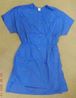 Premier Uniforms Medical Nurse Snap Front Scrub Dress Royal Blue 5X