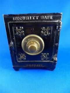 Antique Security Safe Deposit Kyser&Rex Cast Iron Bank c. 1887 #200