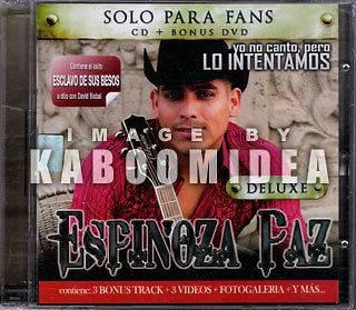 CD + DVD ESPINOZA PAZ Yo No Canto Pero Edicion Para Fans NEW Imported