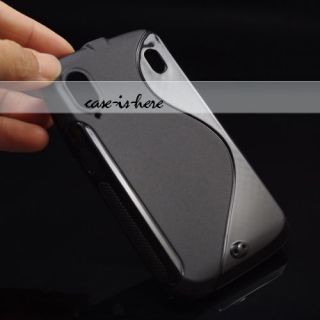 Soft Gel Skin S Line Wave TPU Case for ZTE Skate V960 G1315 / Orange