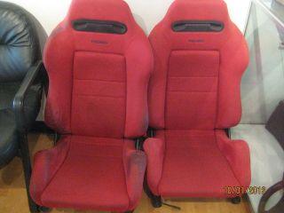 2000 Honda Civic Type R EK9 SRD Red Recaro Front Seats (Fits Honda