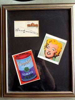 Andy Warhol Original Autograph Signature in black Sharpie