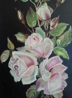 antique rose oil paintings in Art from Dealers & Resellers