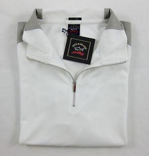 New PAUL & SHARK YACHTING Italy Microfiber L/S 1/4 Zip Sweater Shirt M