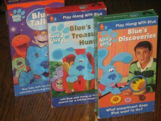 Blues Clues VHS Tapes   Blue Talks   Blues Discoveries   Big